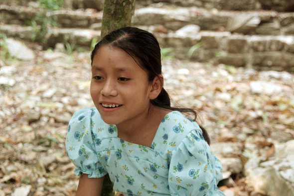 Palenque, young girl