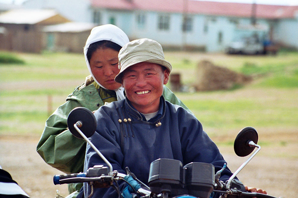 Mongolia, steppe, motorcycle