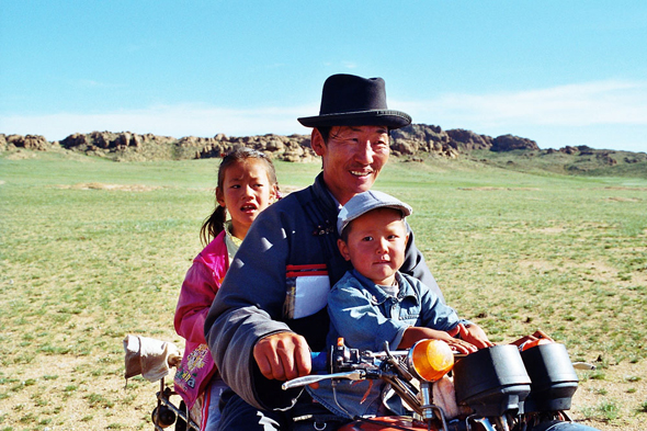Mongolia, father two children