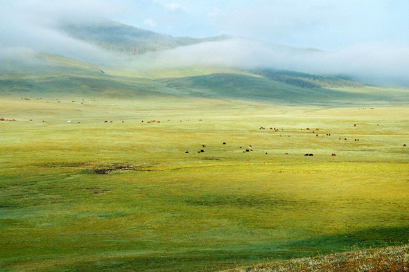 Orkhon valley, sunrise