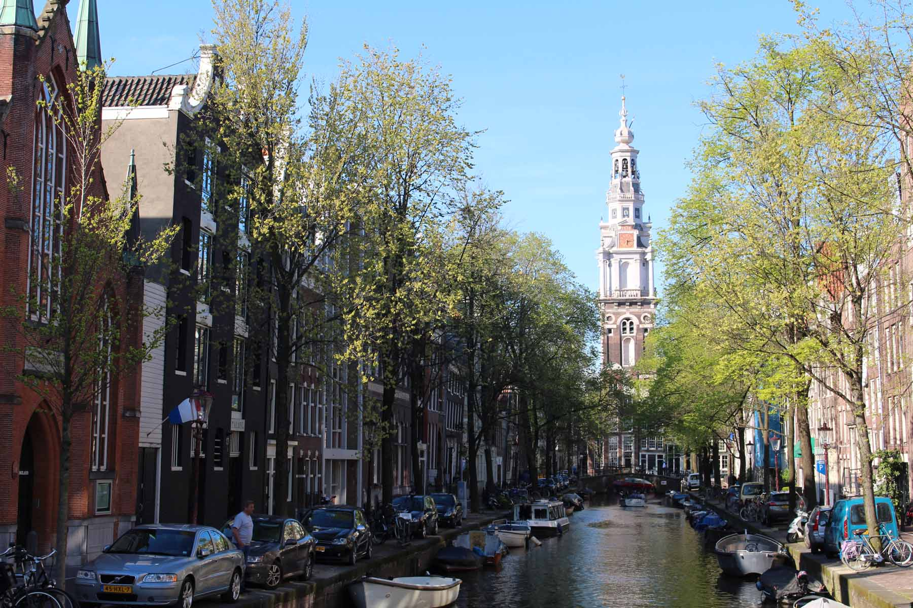 Amsterdam, canal Groenburgwal, Países Bajos