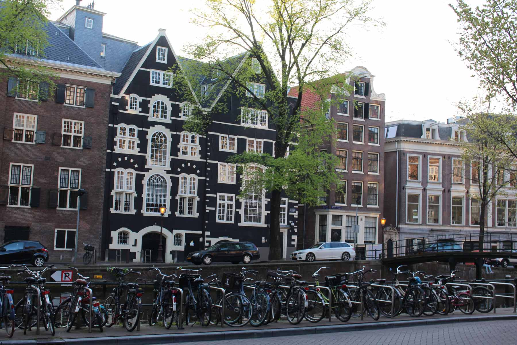 Amsterdam, Kloveniersburgwal, houses, Red Light district