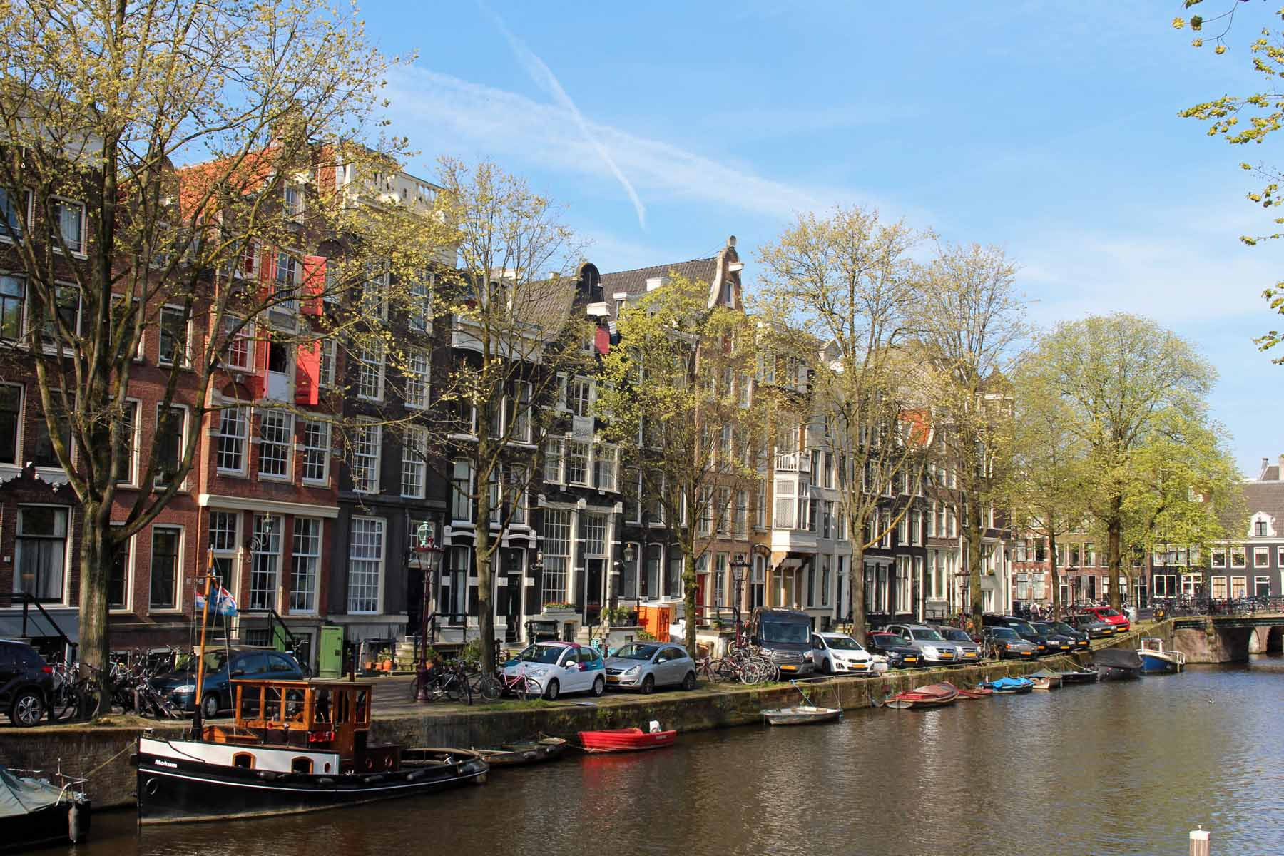 Amsterdam, canal Brouwergracht, view