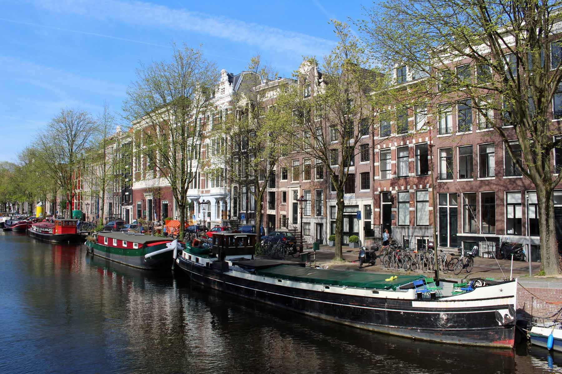 Amsterdam, barges, Keizersgracht