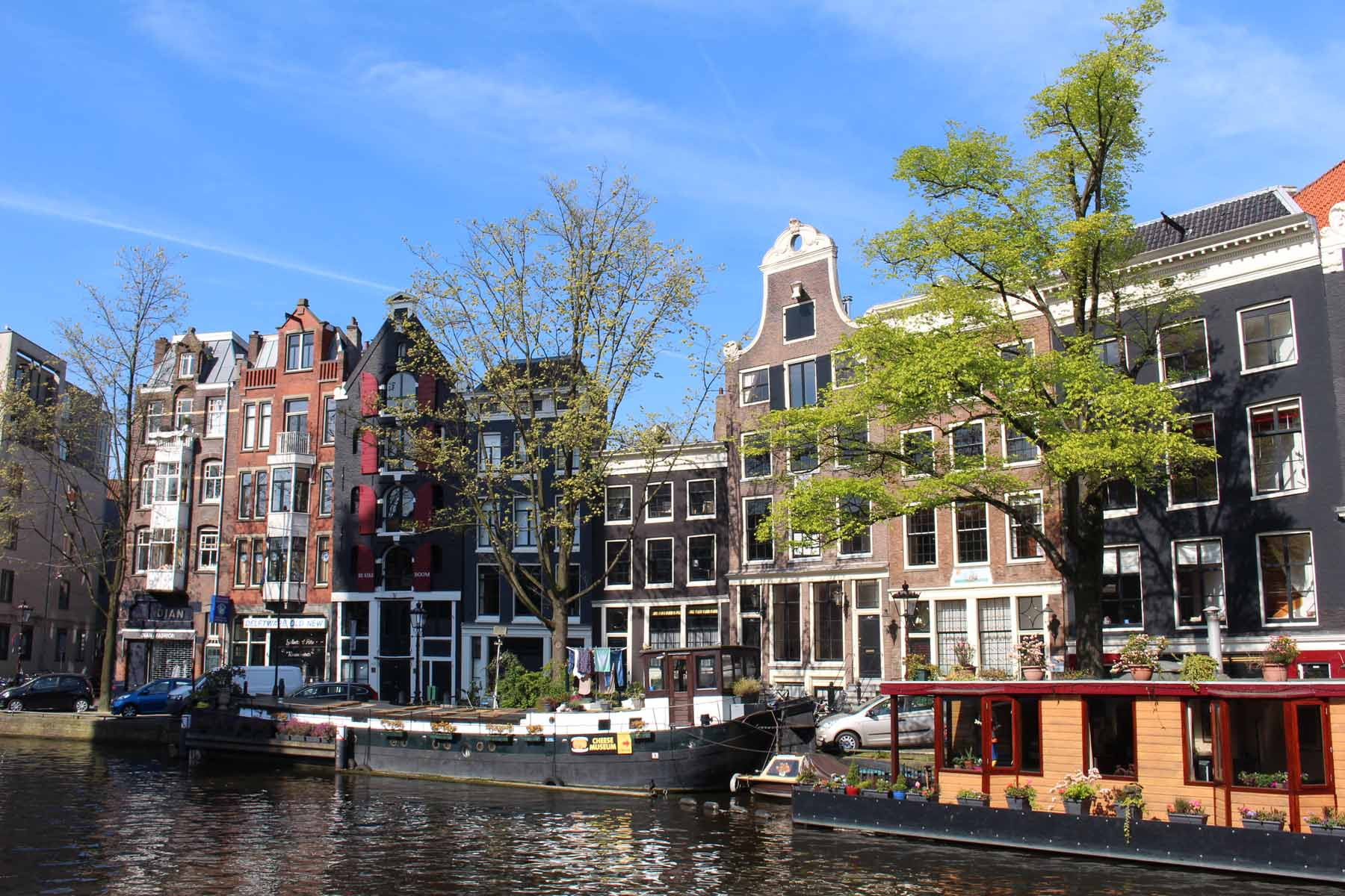 Amsterdam, typical houses, Prinsengracht