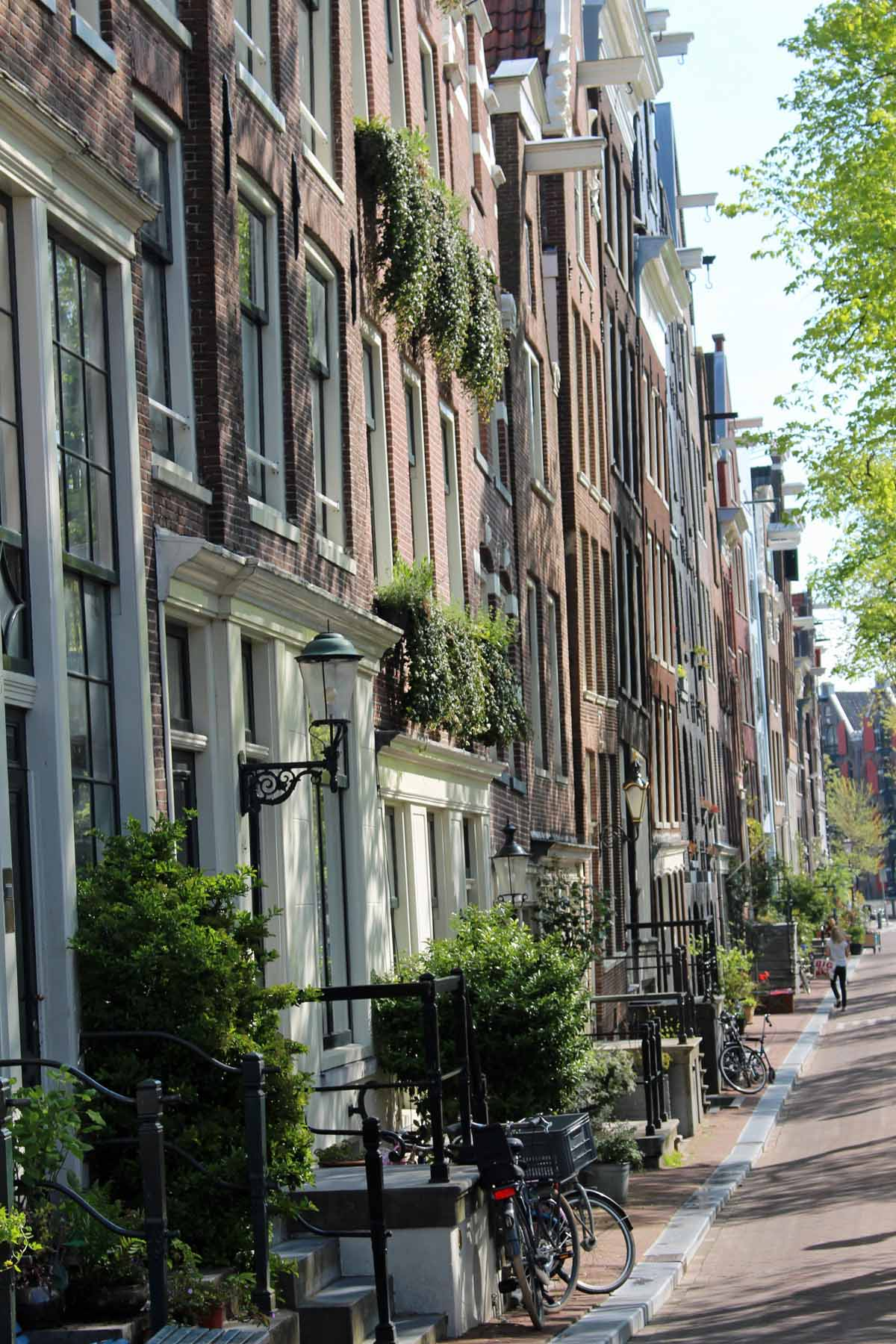 Amsterdam, typical houses, Jordaan district