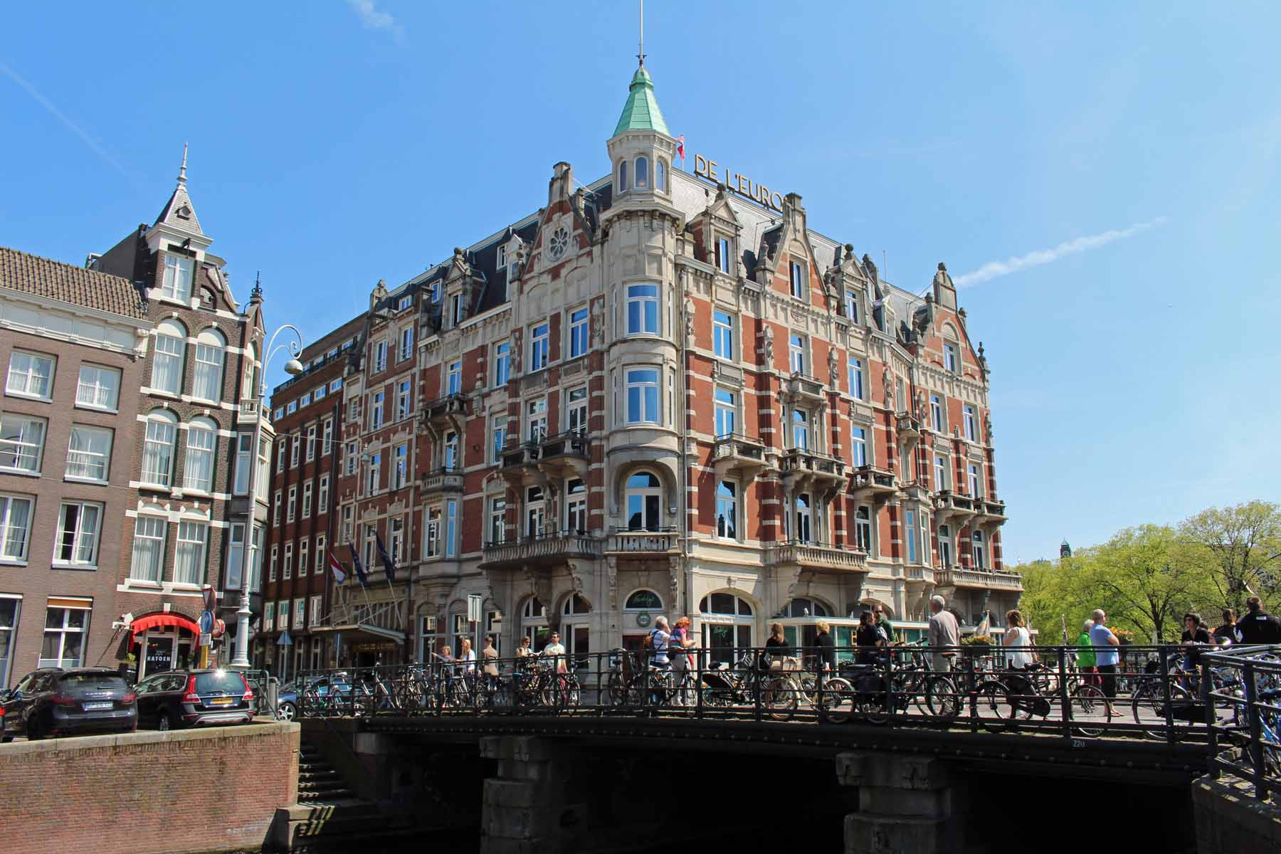 Amsterdam, bridge, Rokin, cafe