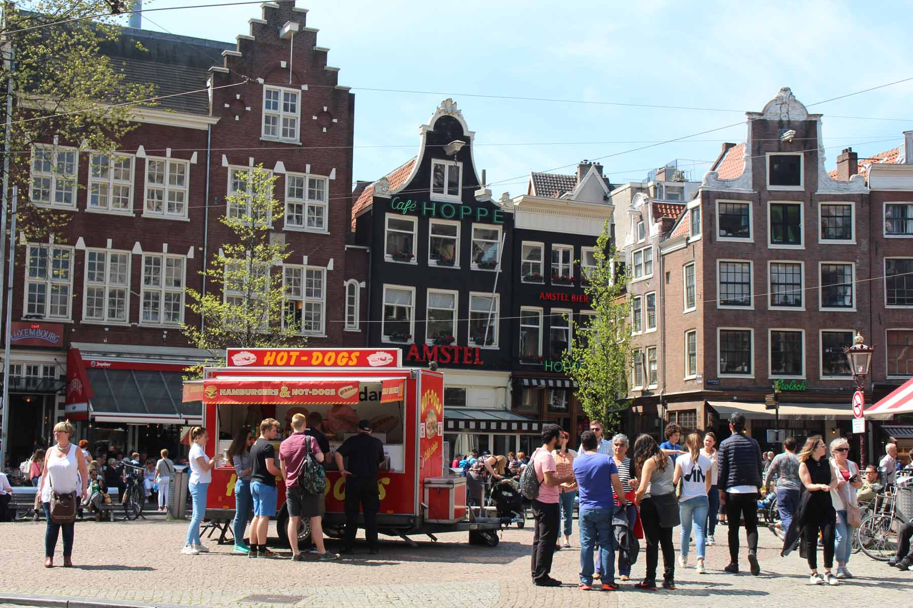 Amsterdam, square, houses, Spui