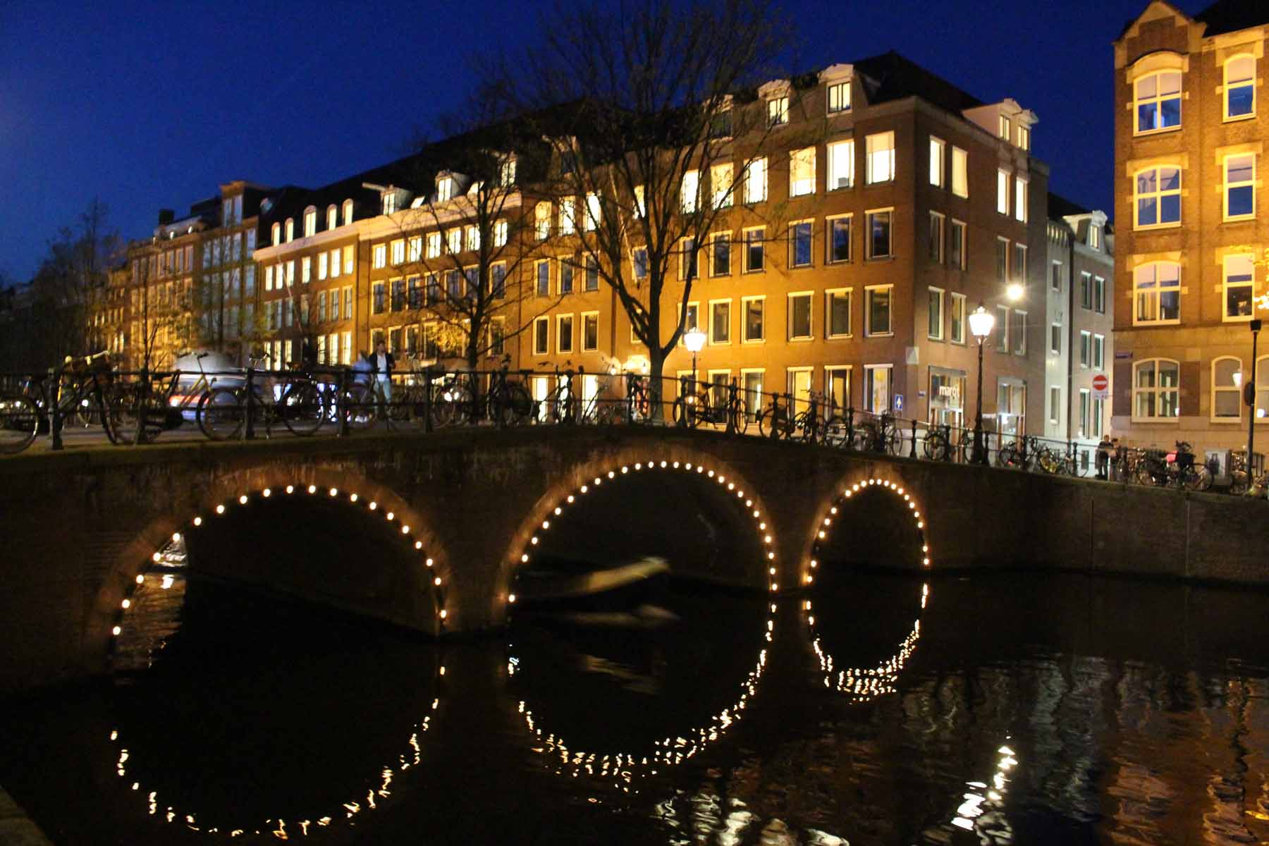 Amsterdam, bridge, night, Prinsengracht