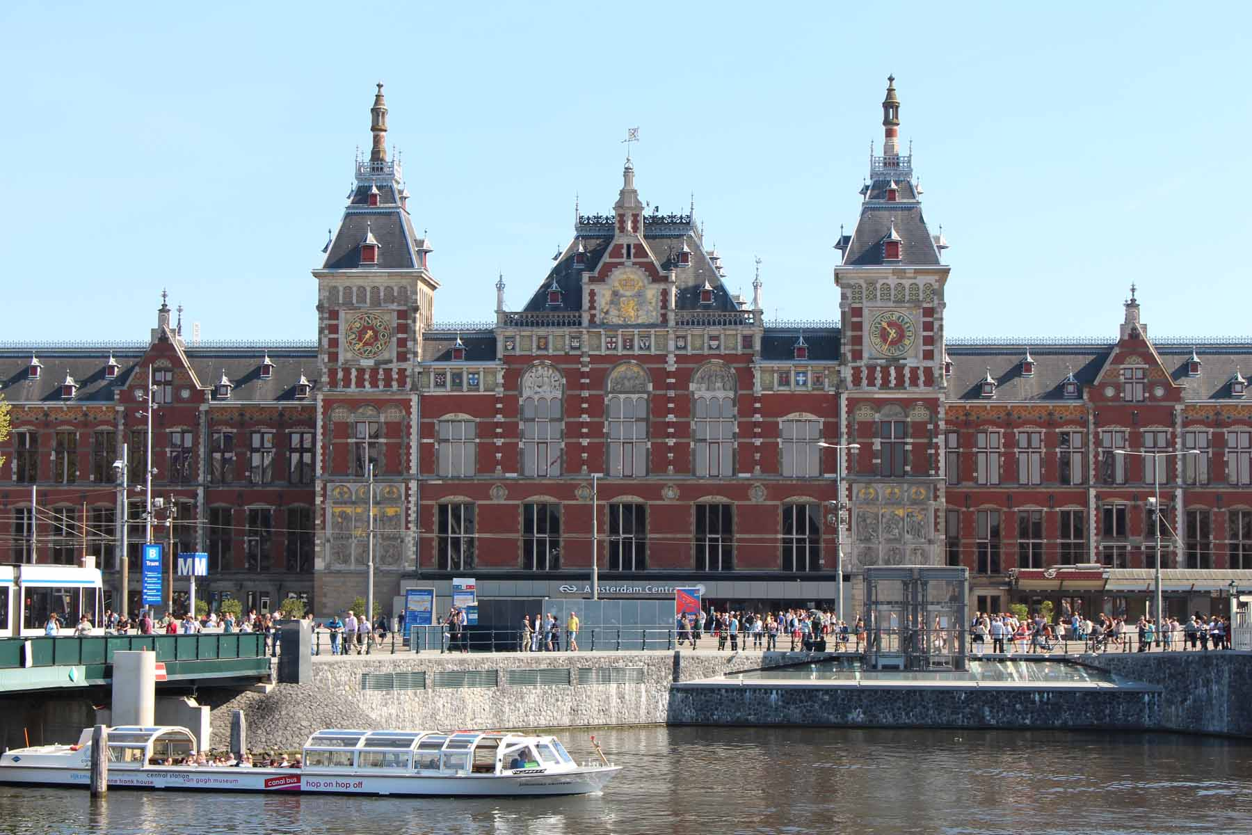Amsterdam, station, Amsterdam Centraal, building