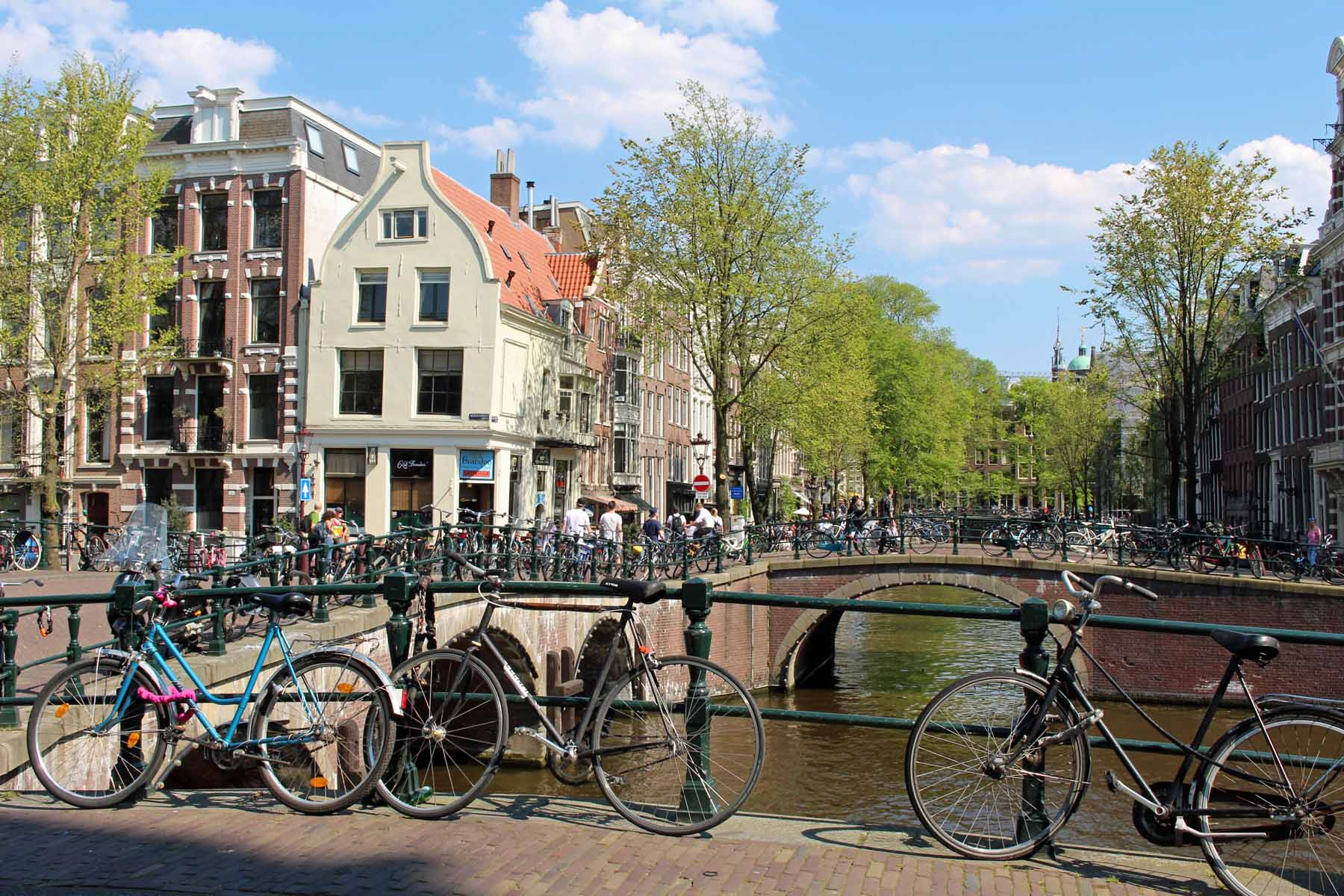 Amsterdam, bridge, bike, Leidsegracht