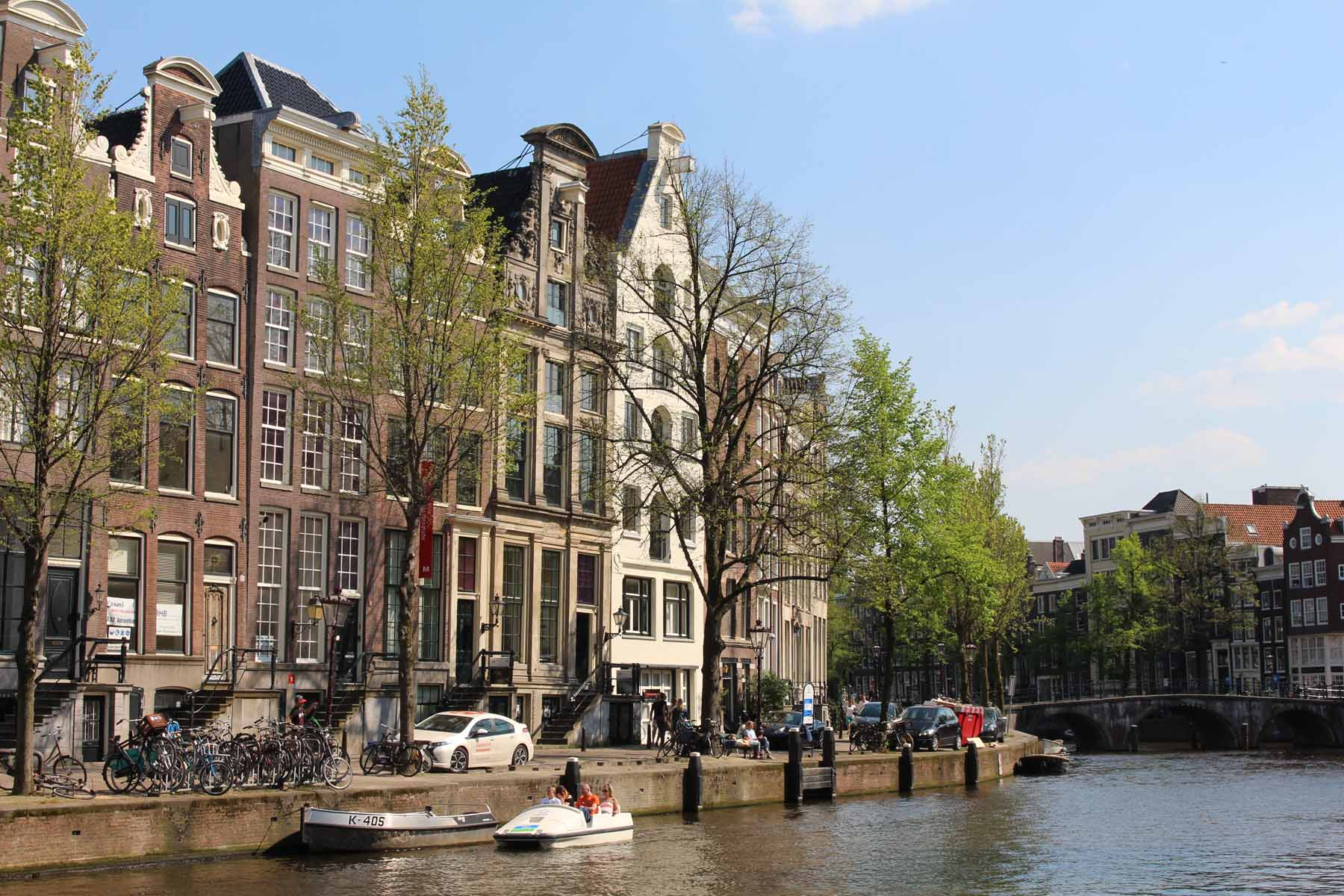 Amsterdam, houses, bridge, Keizersgracht