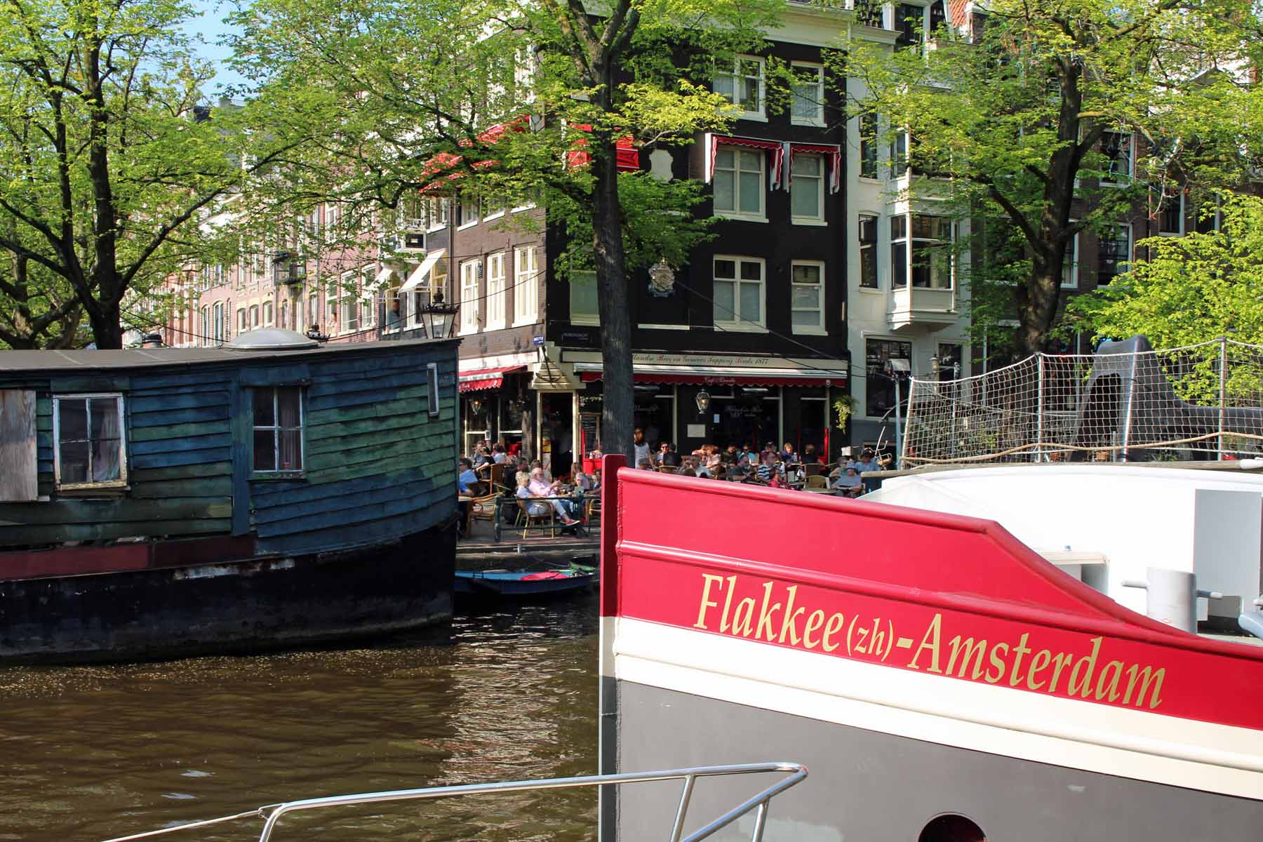 Amsterdam, barges, canal Reguliersgracht