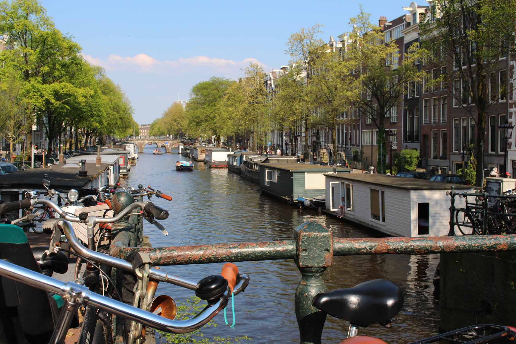 Amsterdam, barges, houses, Herengracht