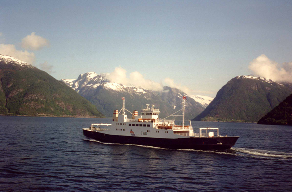 Sognefjord, bac