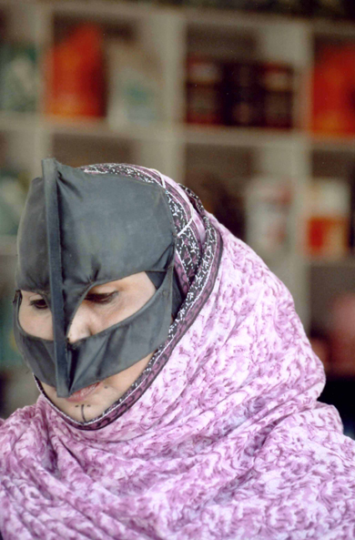 Oman, veiled woman