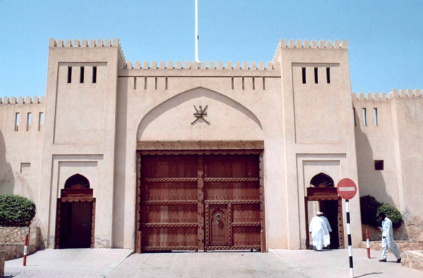 Nizwa, souk, door