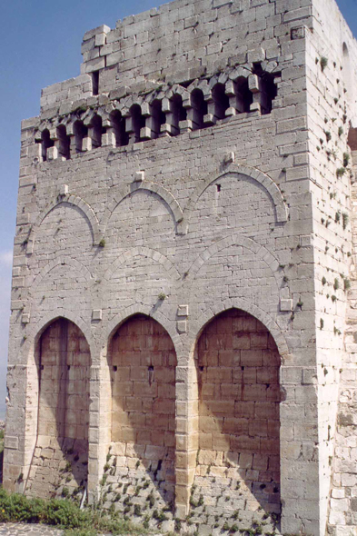 Crac des Chevaliers, wall