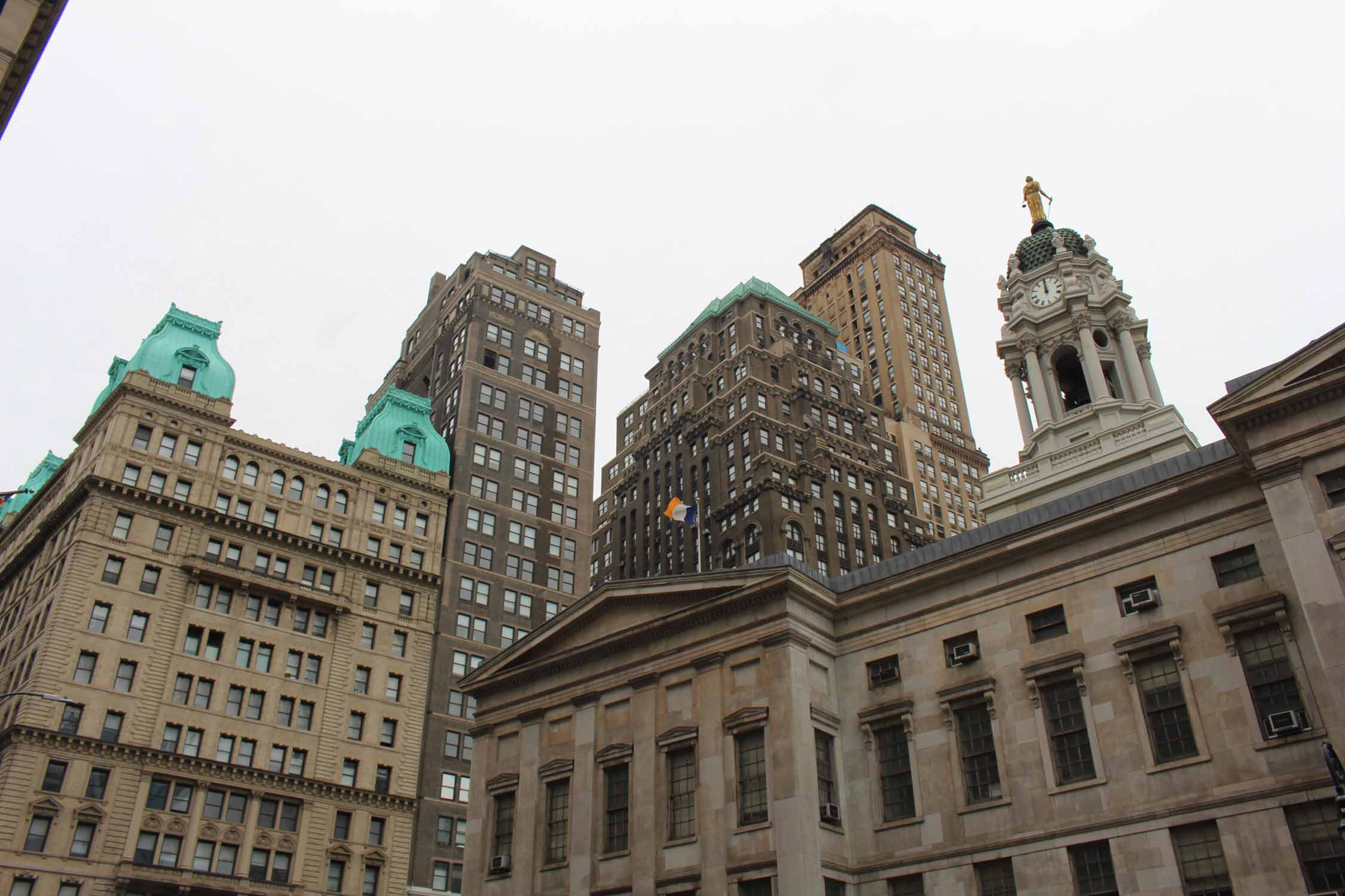 New York, lower Manhattan, tours anciennes typiques