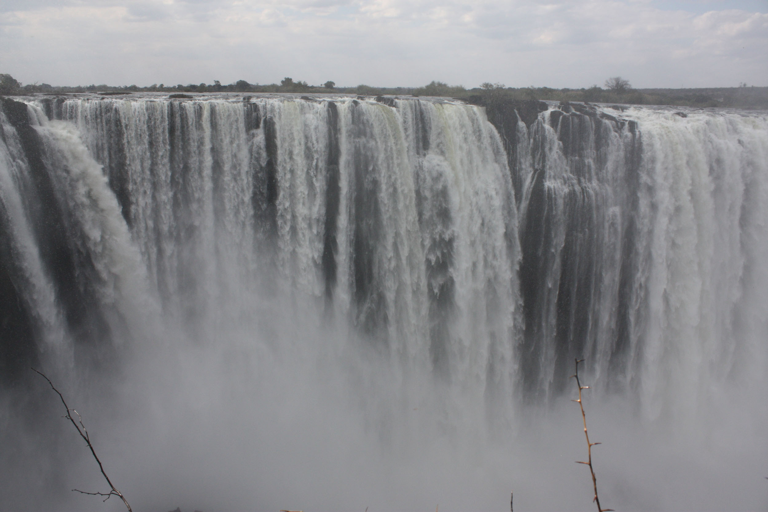 View, Victoria Falls, cloud of water